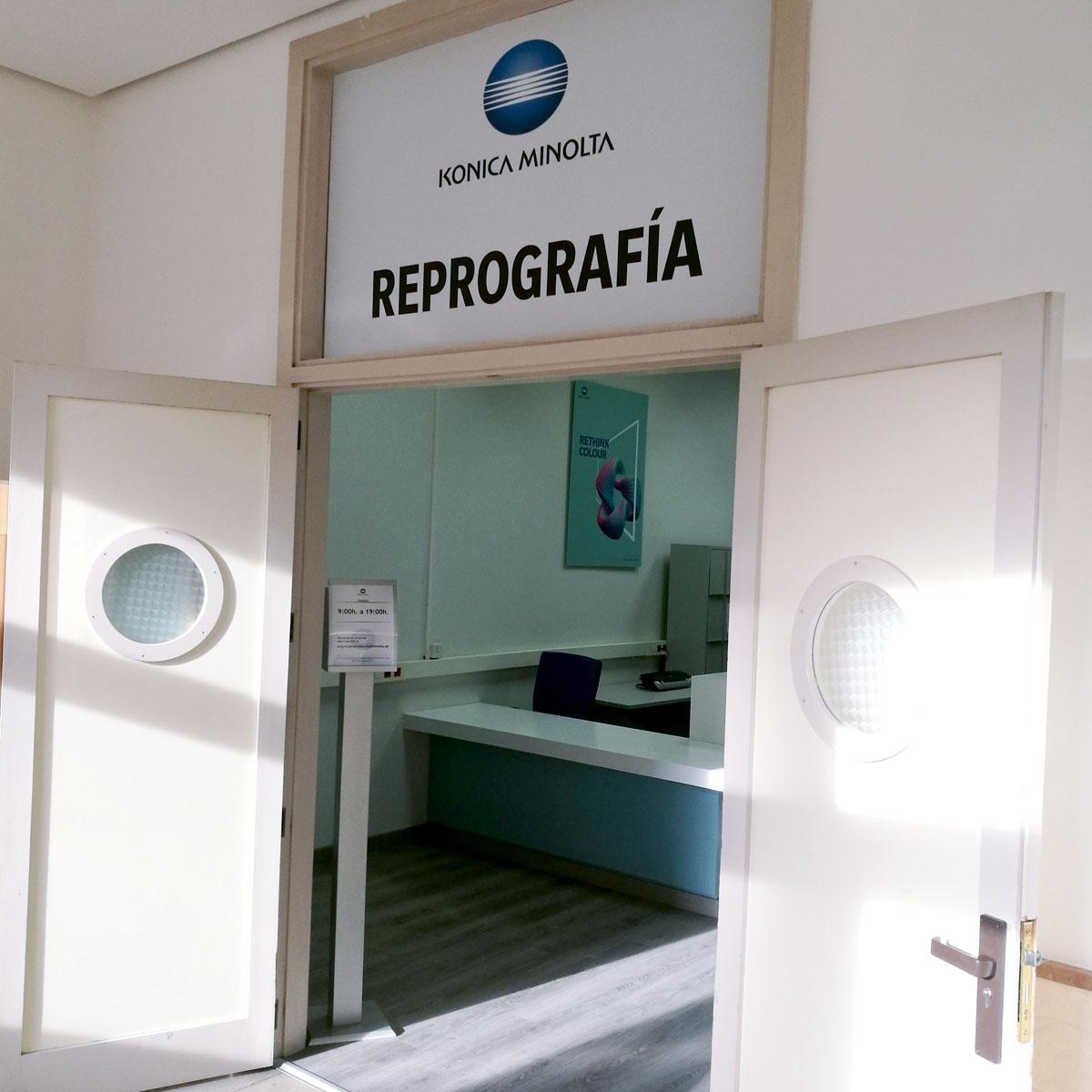 Diseño tiendas reprografía URJI Konica Minolta 6