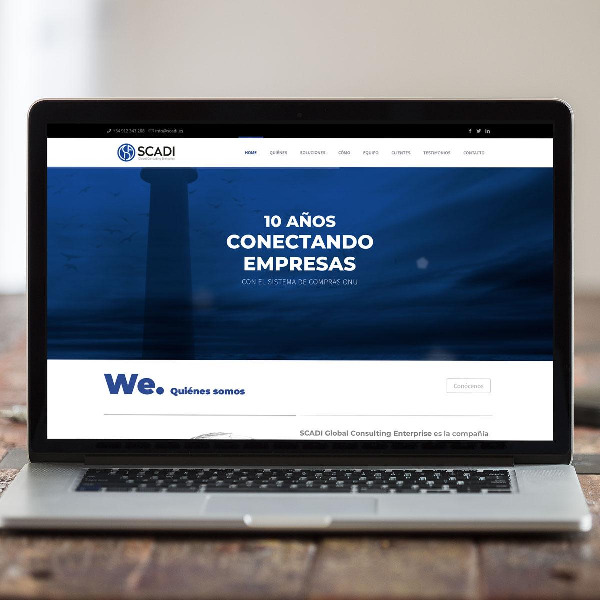 Diseño página web scadi