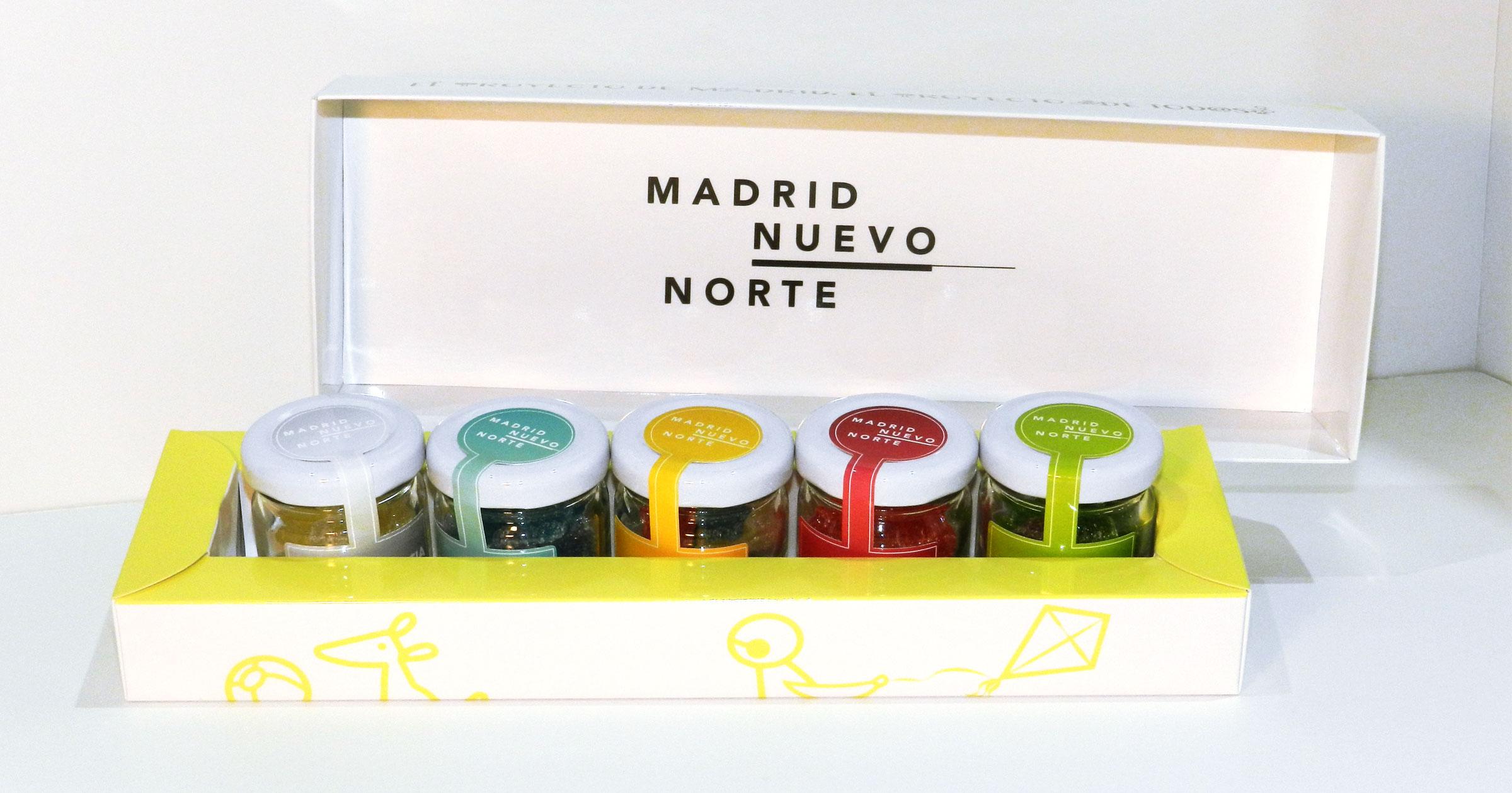 Merchandising tarros de valores Madrid Nuevo Norte